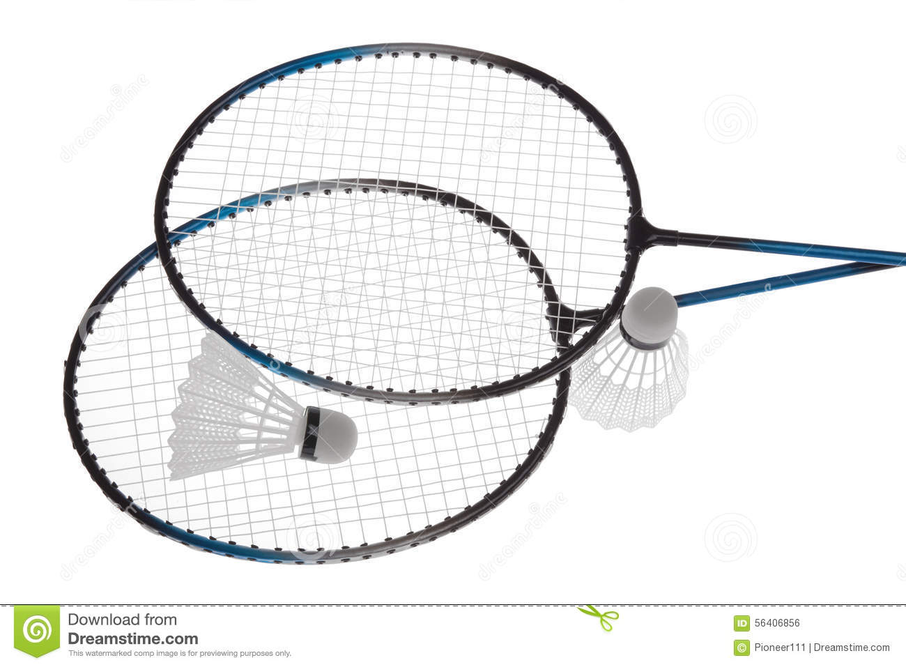 Badminton Rackets Stock Photo Image Of Feather Activity
