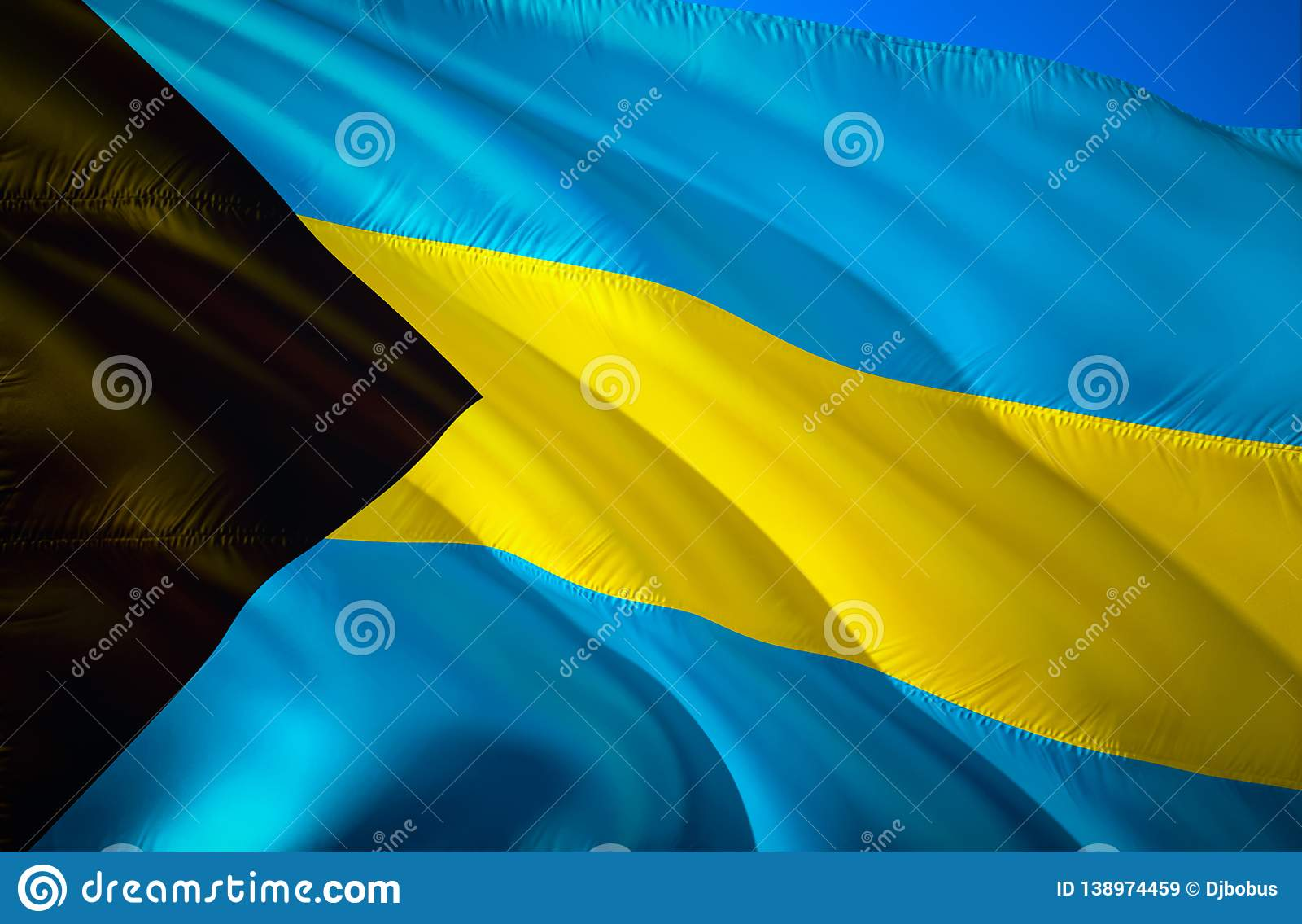 Bahamas Flag 3d Waving Flag Design The National Symbol