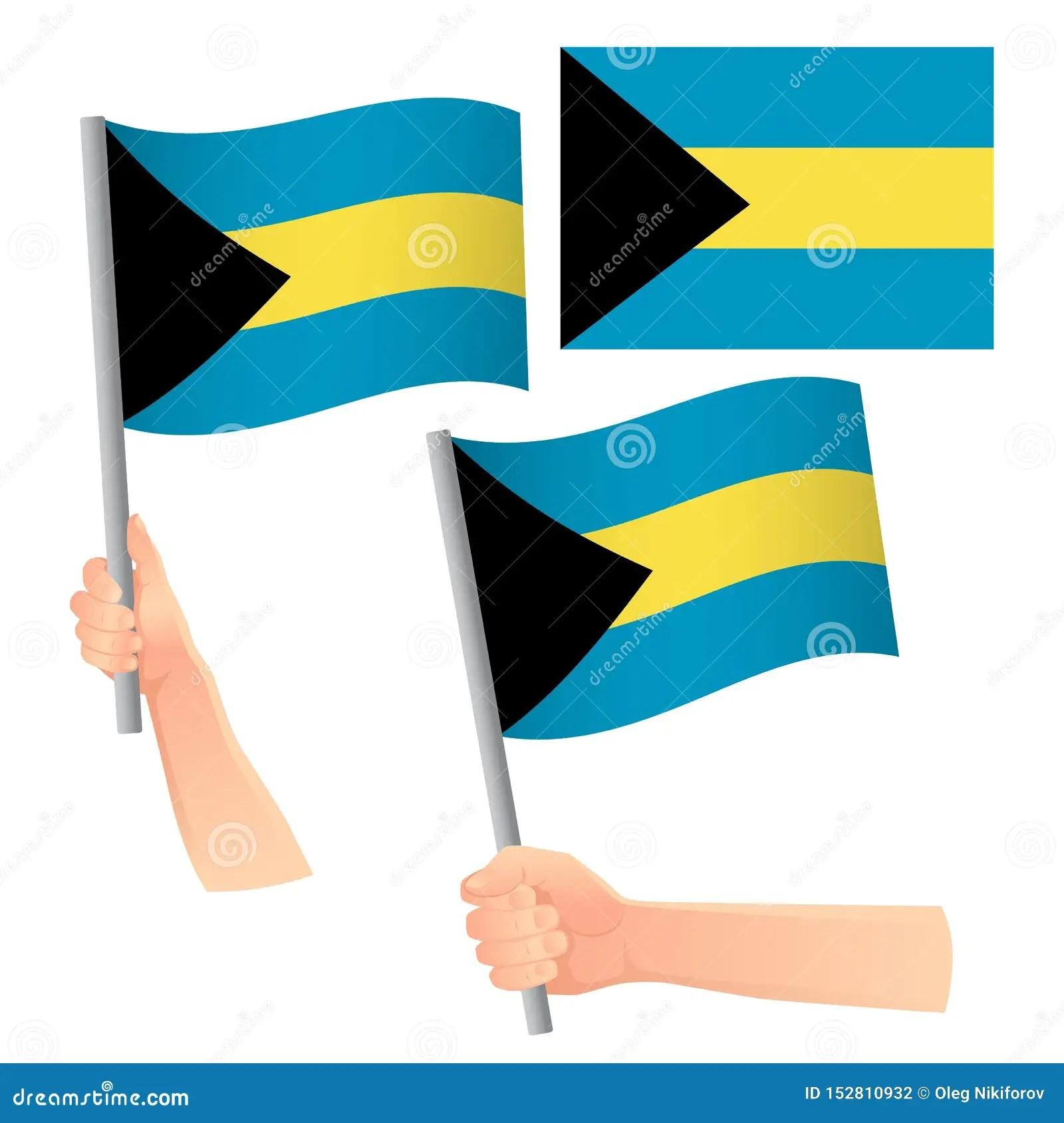 Bahamas Flag In Hand Set Stock Photo Image Of Waving
