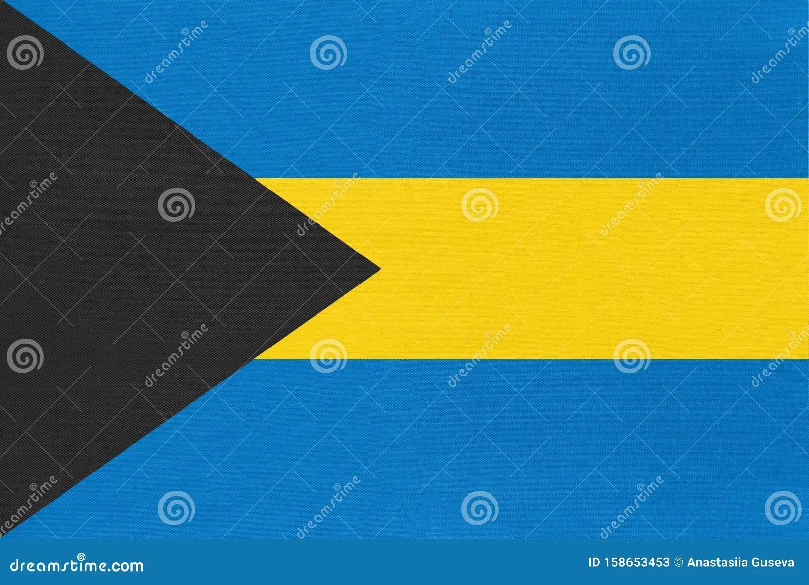 Bahamas National Fabric Flag Textile Background Symbol Of