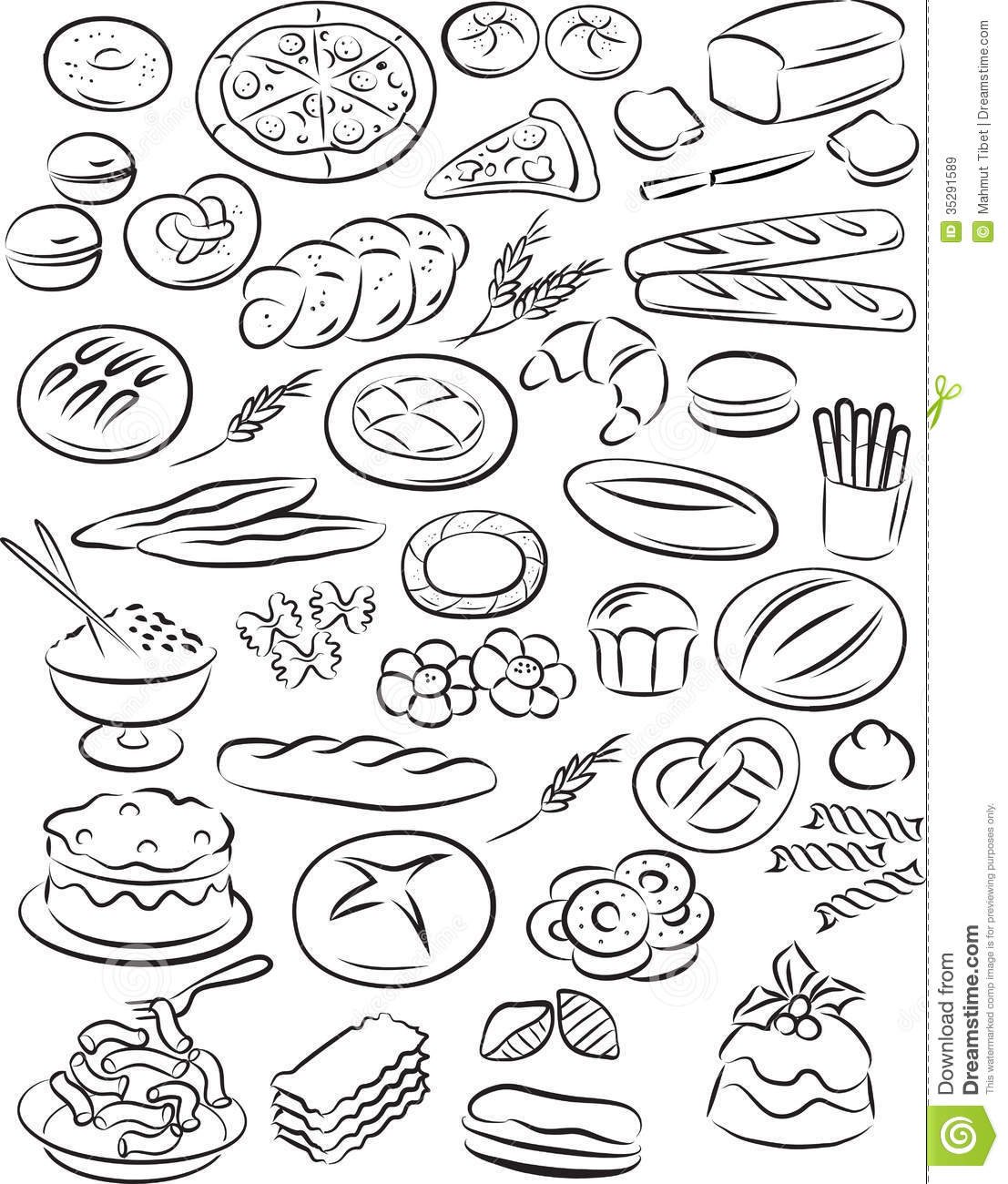 Bakery Stock Vector Illustration Of Macaroni Loaf