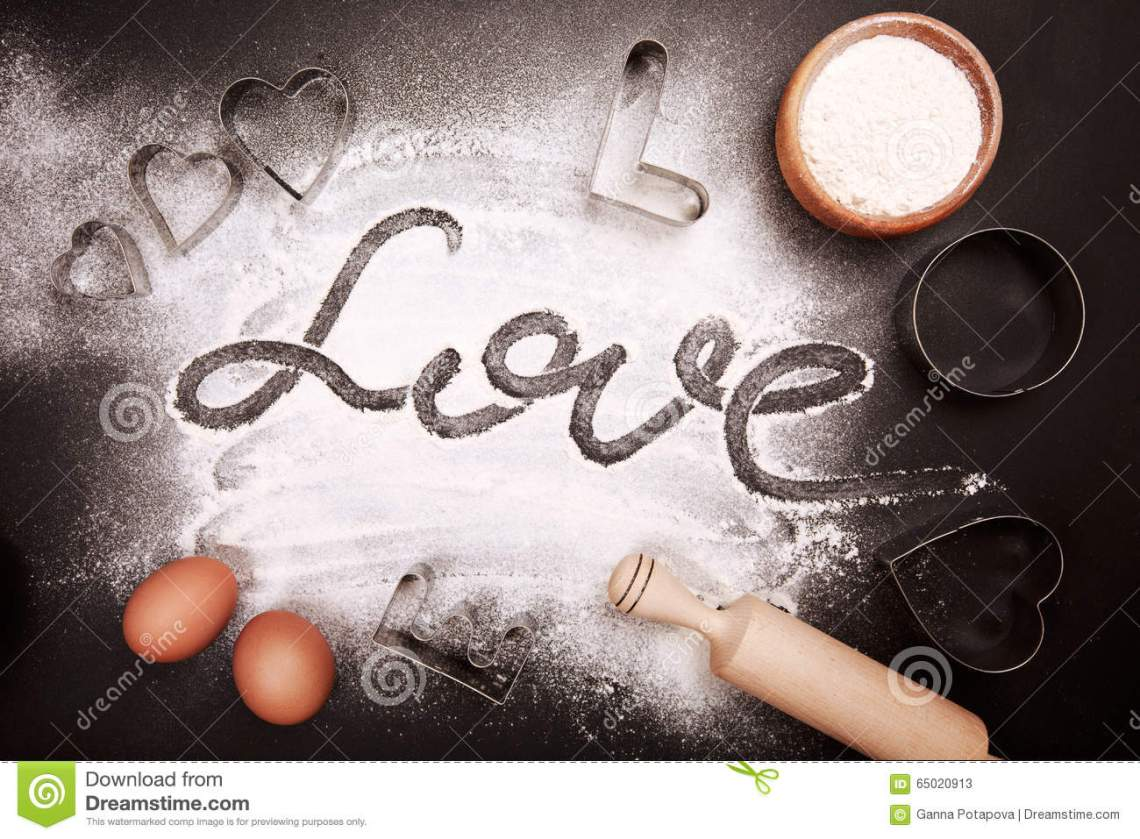 Download Baking with love stock image. Image of dessert, flour ...