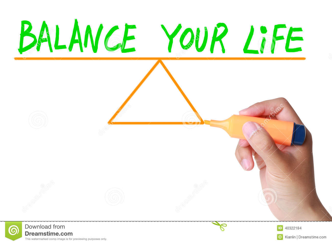 Balance Your Life Stock Photo Image Of Finances Career