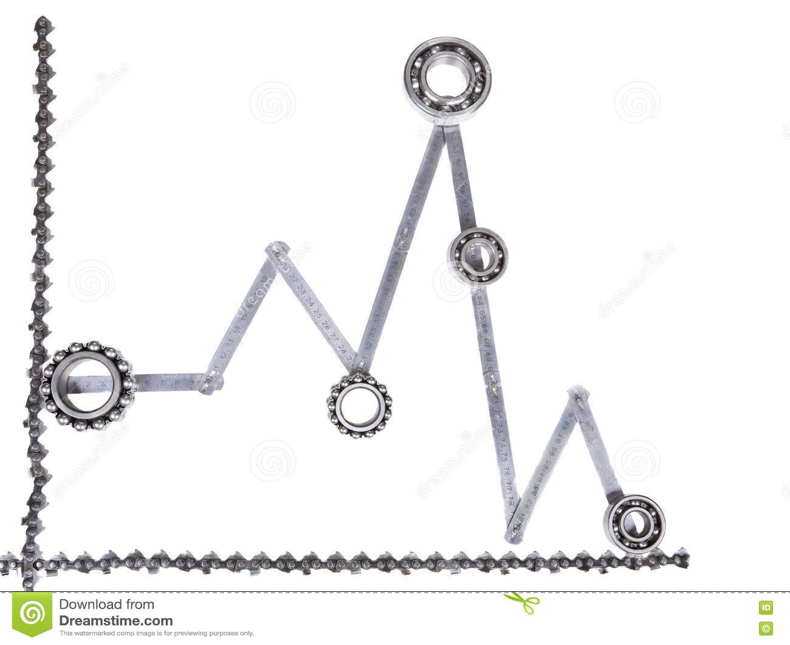 Ball Bearing And Diagram Stock Photo