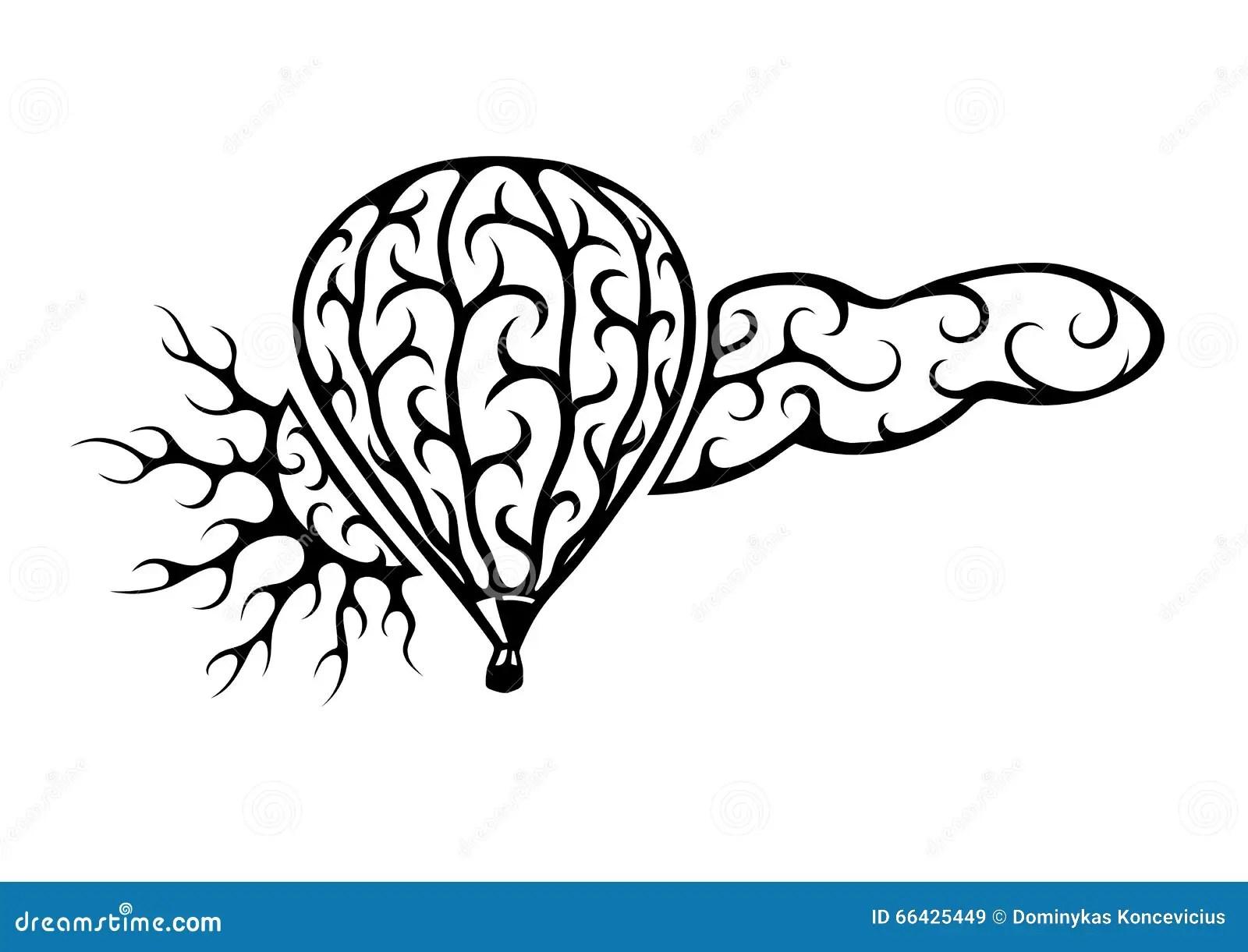 Balloon Sun Cloud Stock Vector Illustration Of Vector