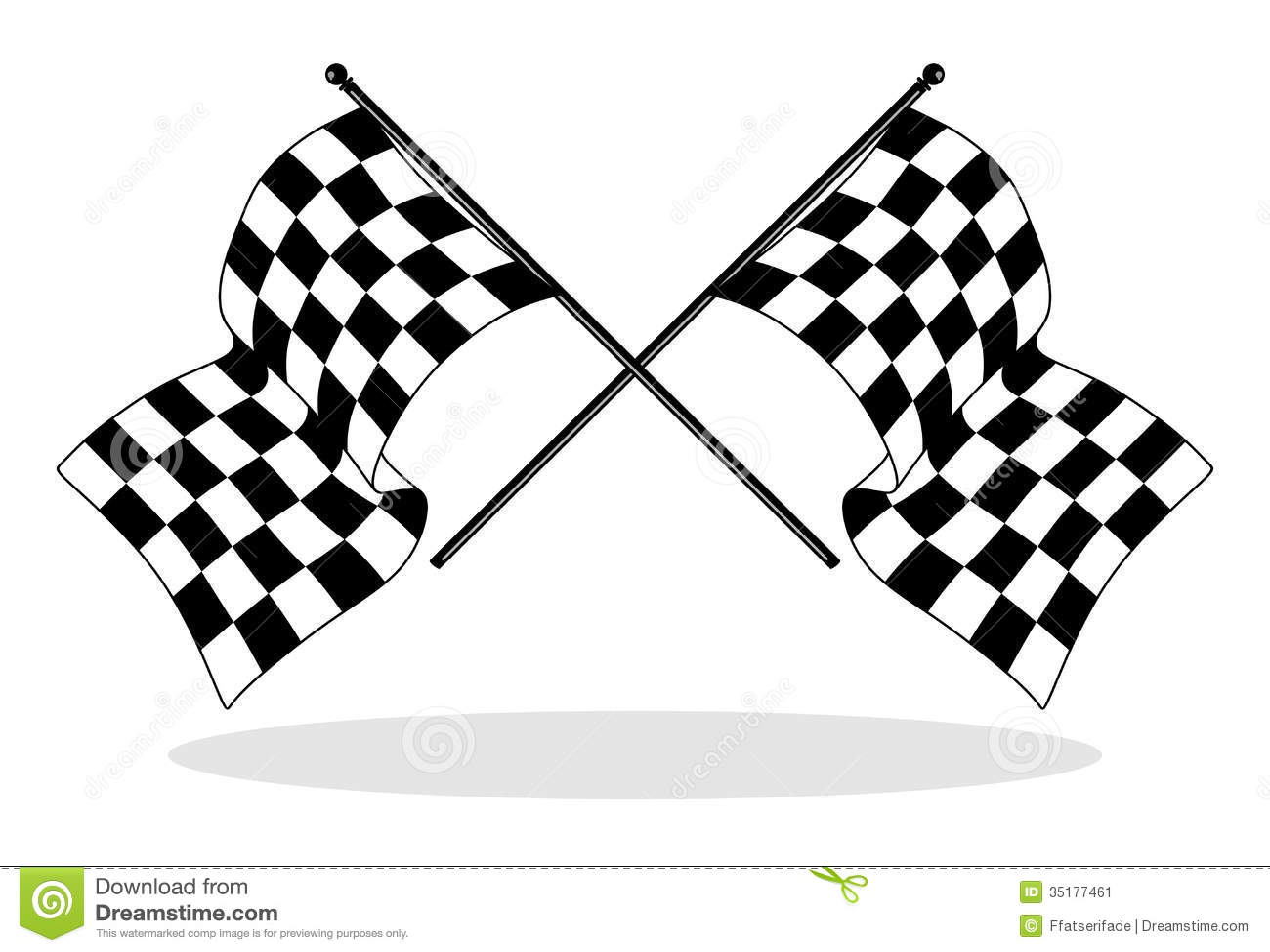 Bandera A Cuadros Stock De Ilustracion Ilustracion De