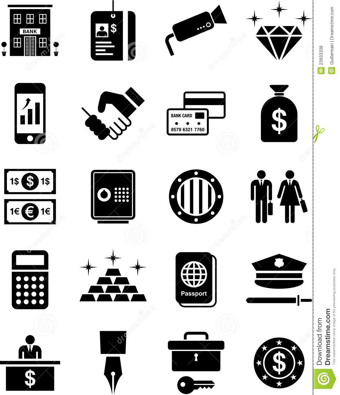 Bank Icons Stock Vector Image Of Business Calculator