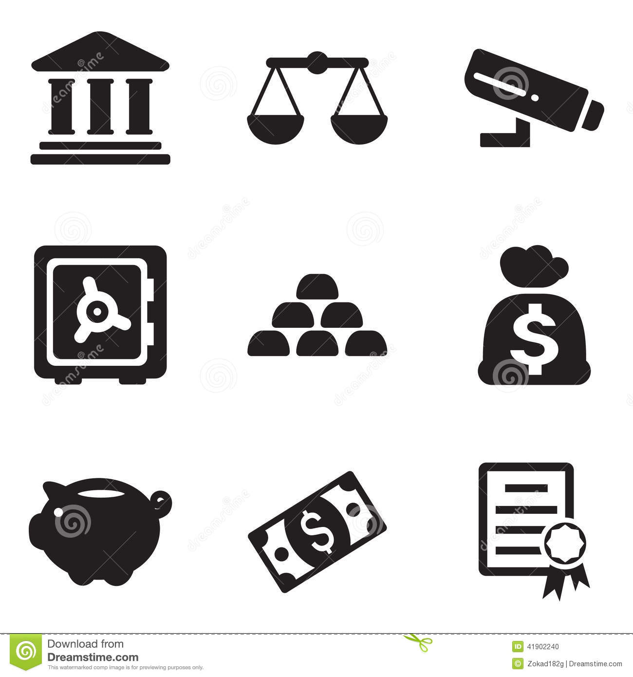 Bank Icons Stock Vector Illustration Of Life Piggy
