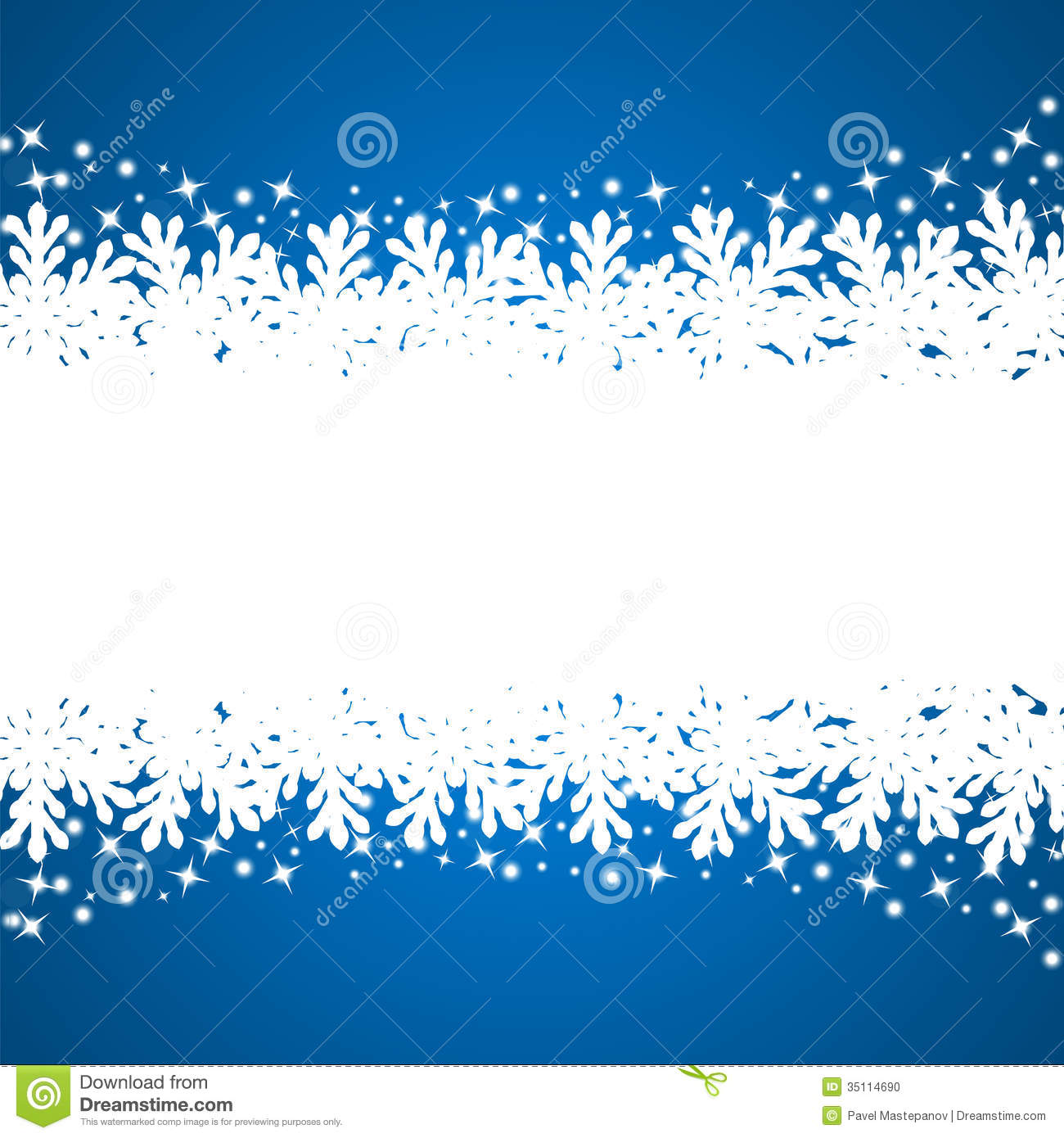 Banner With Paper Snowflakes Stock Photo Image 35114690