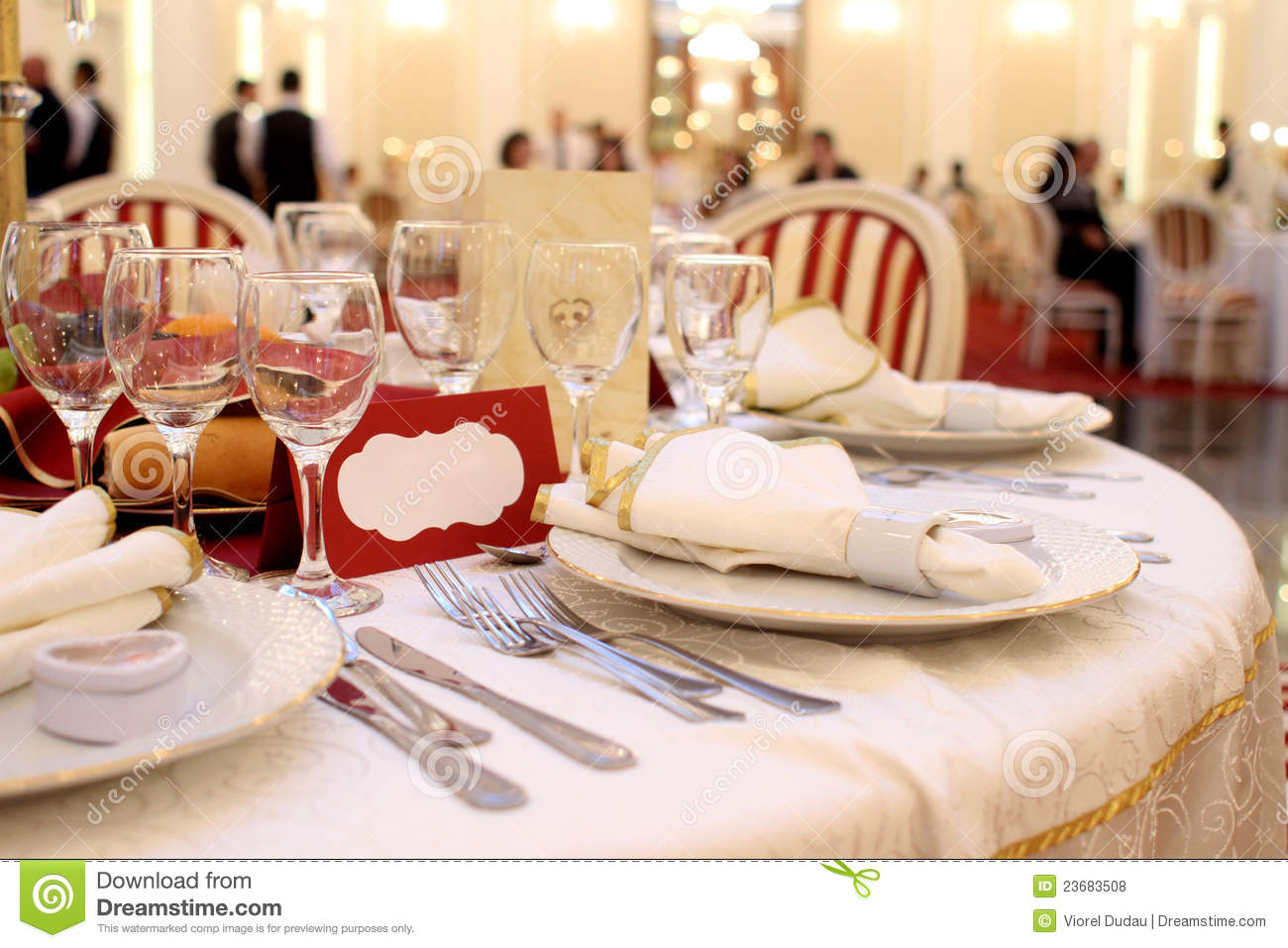 Banquet Table Setting Royalty Free Stock Photos Image