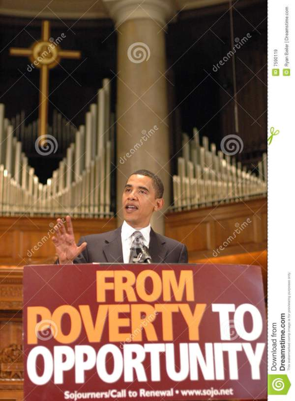 Barack Obama Speaks At Church Editorial Stock Image ...