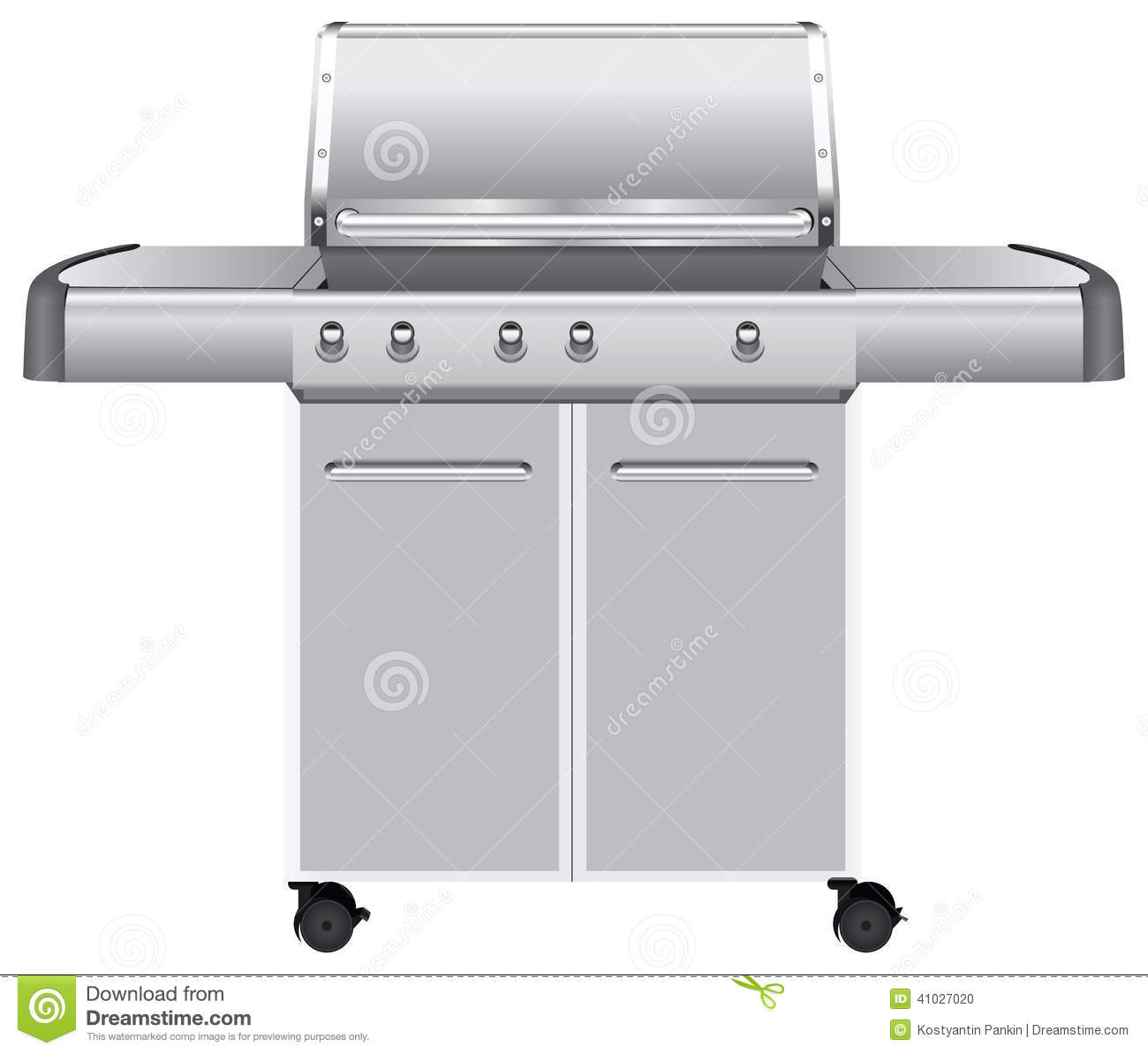 Weber Genesis Grill Center Stainless Steel Cabinets