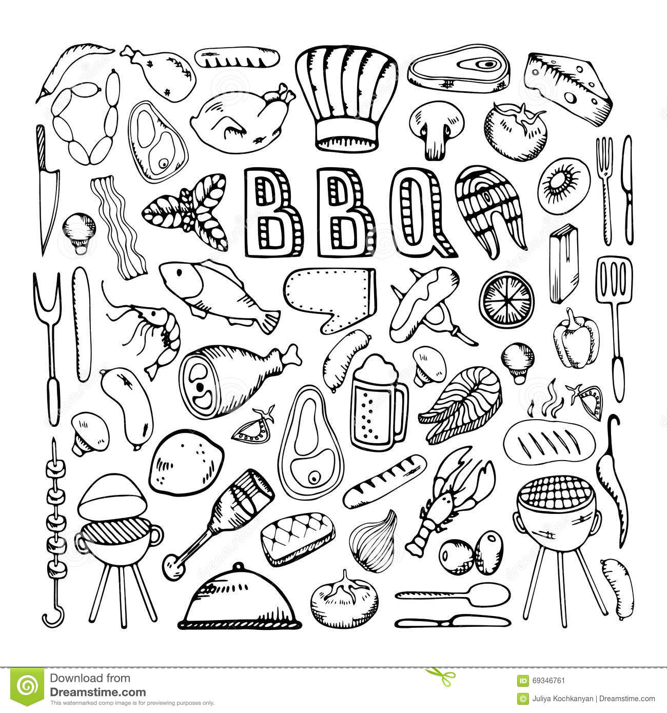 Barbecue Grill Party Stock Vector