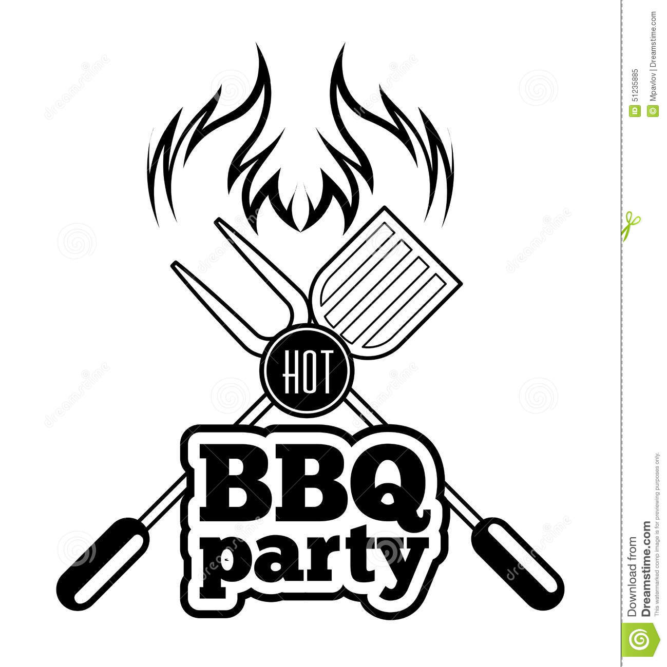 Barbecue Grill Stock Vector Illustration Of Party