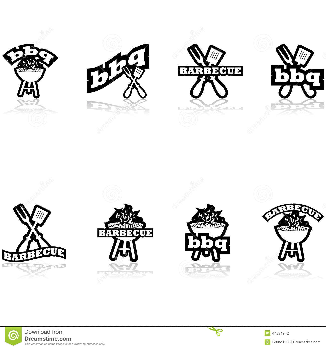 Barbecue Icons Stock Vector