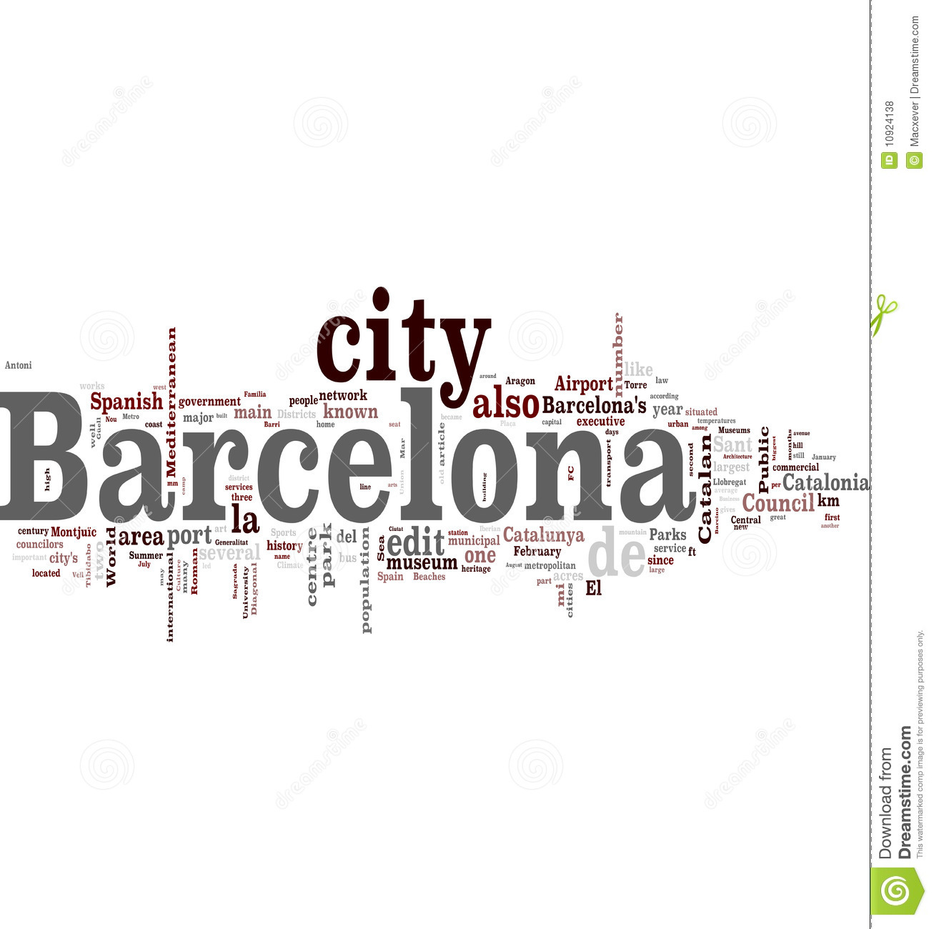 Barcelona Stock Illustration Image Of Catalonia