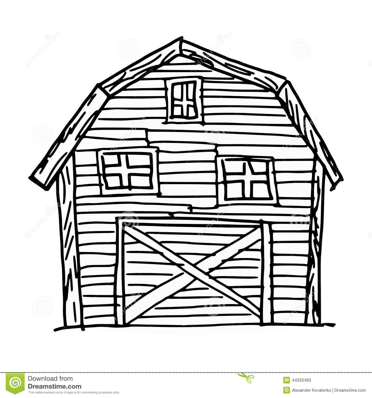 Barn Stock Vector Image Of Single Ranch Background