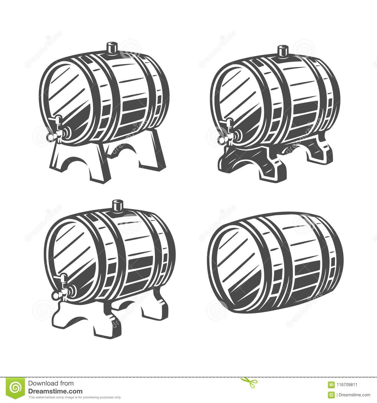 vector template beer emblem cartoon vector