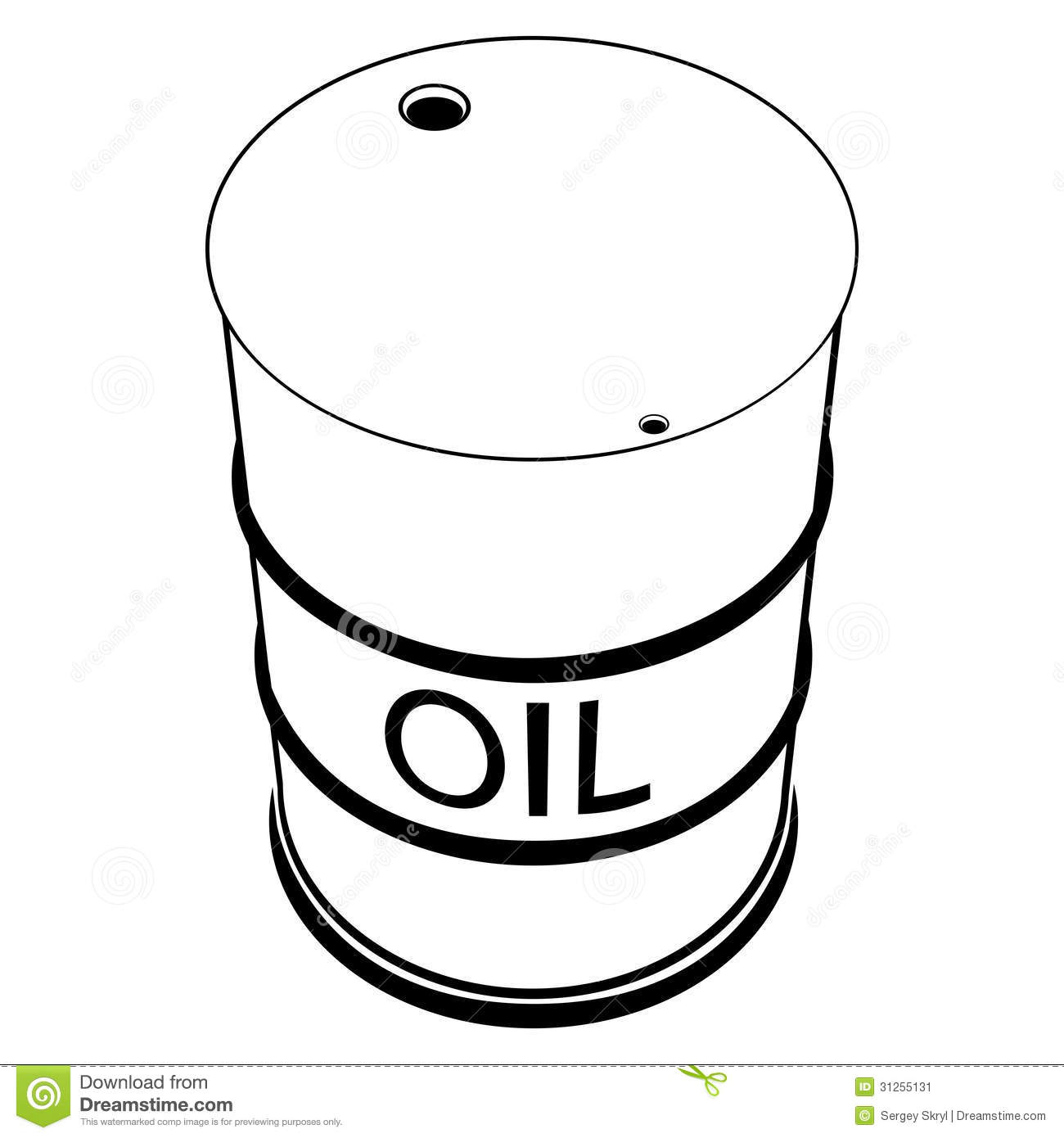 A Barrel Of Oil Stock Image