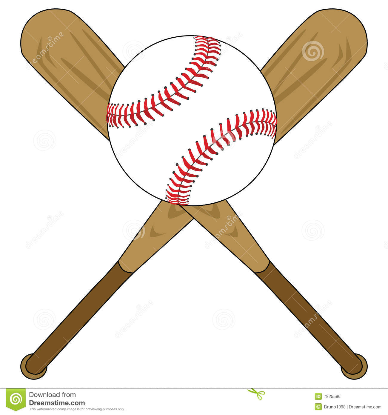Baseball Bats And Ball Stock Vector Illustration Of Graphic 7825596