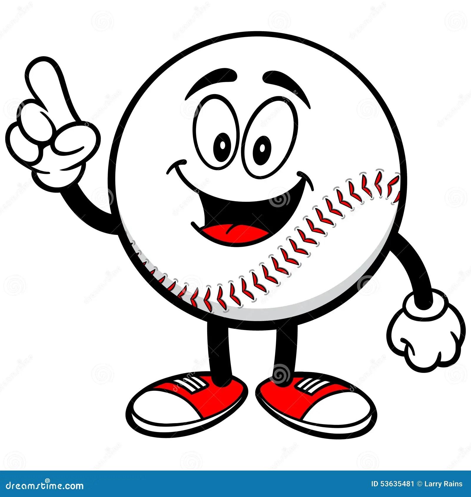 Baseball Mascot Talking Stock Vector Illustration Of
