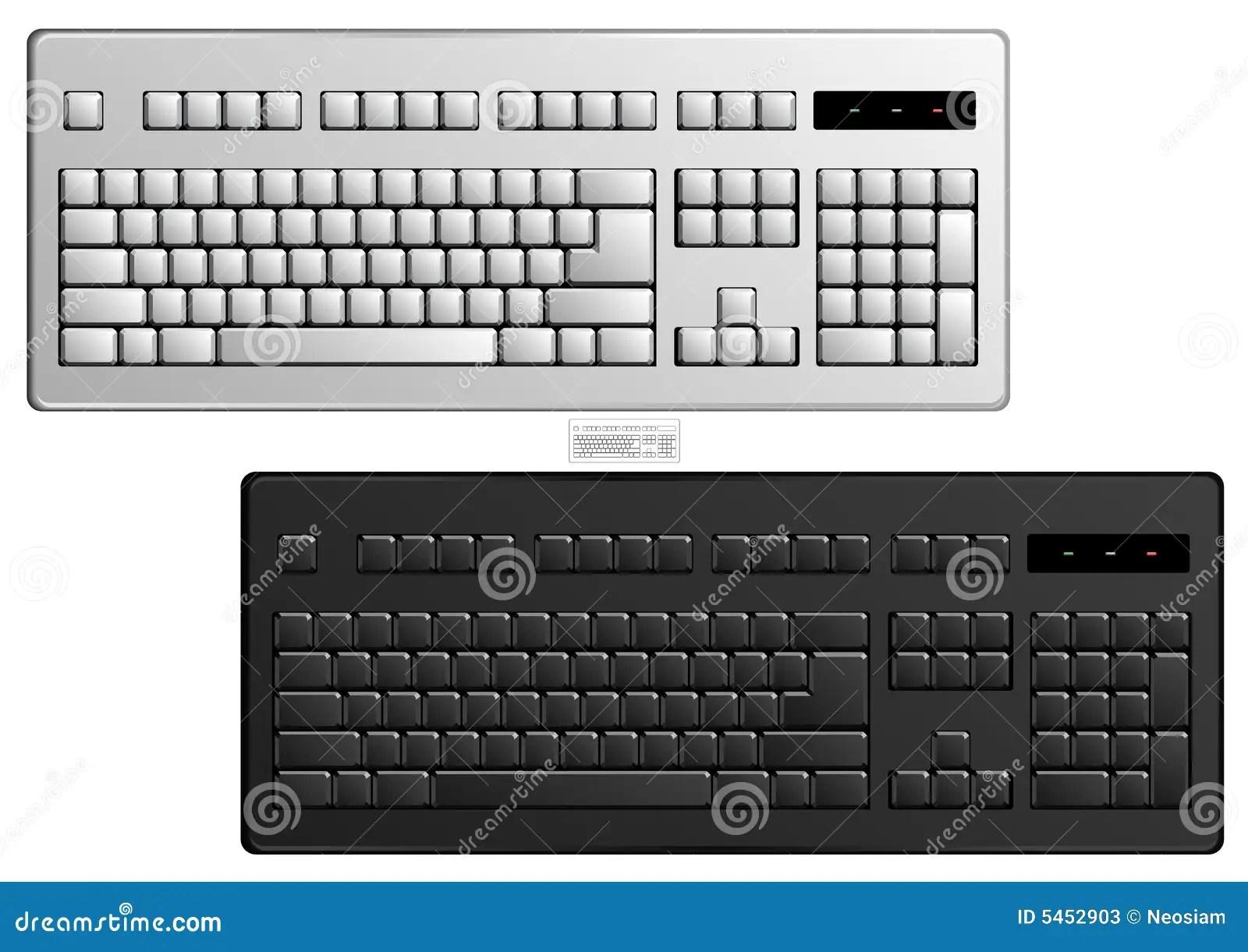 Basic Computer Keyboard Vector Art Stock Photos
