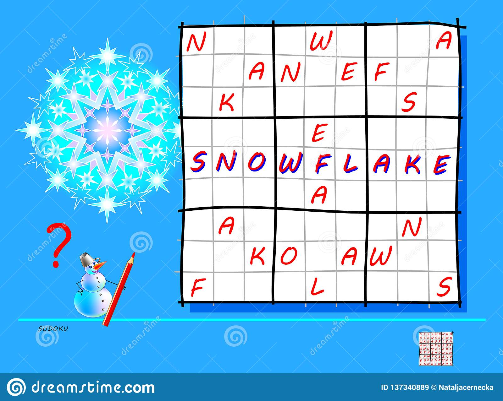Logic Sudoku Game Need To Complete The Puzzle Using The
