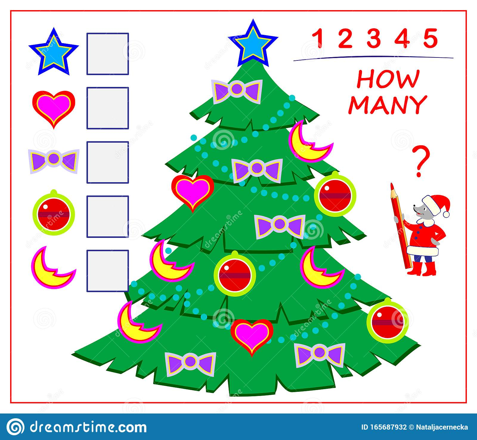Logic Puzzle Game For Children And Adults Count Quantity