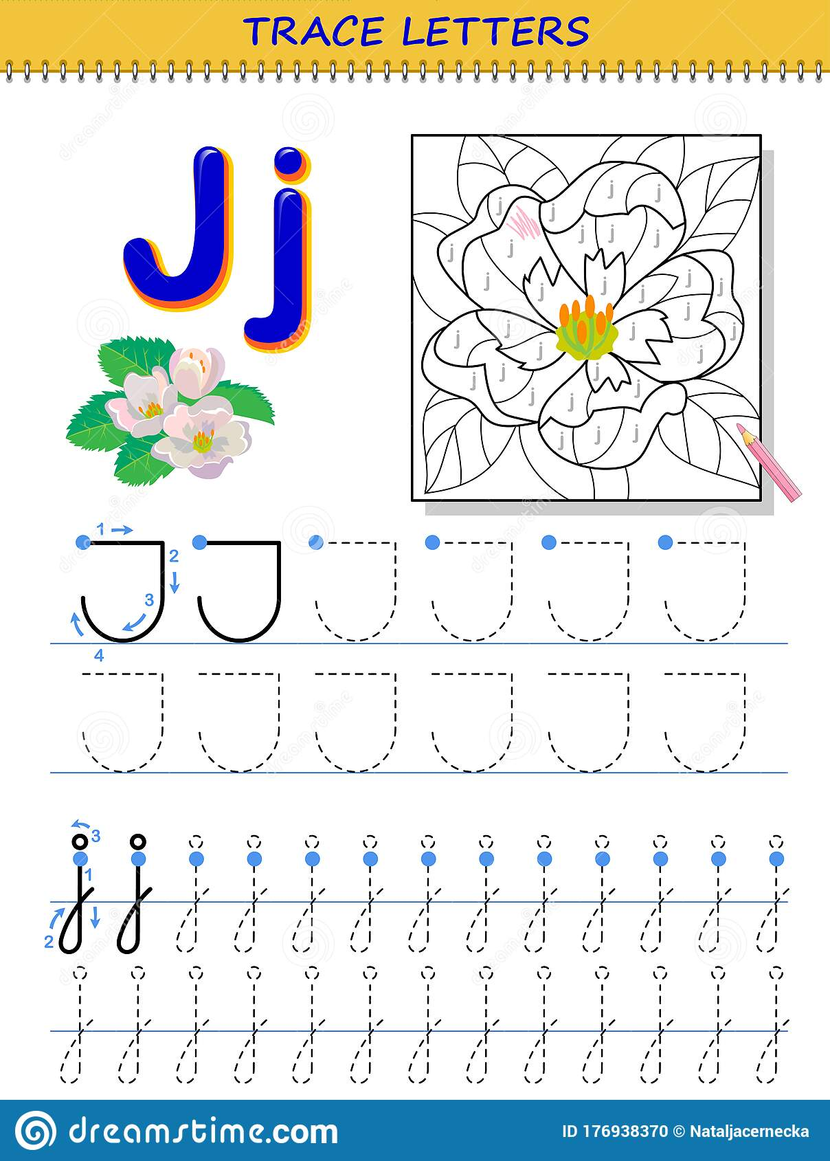 Tracing Letter J For Study Alphabet Printable Worksheet
