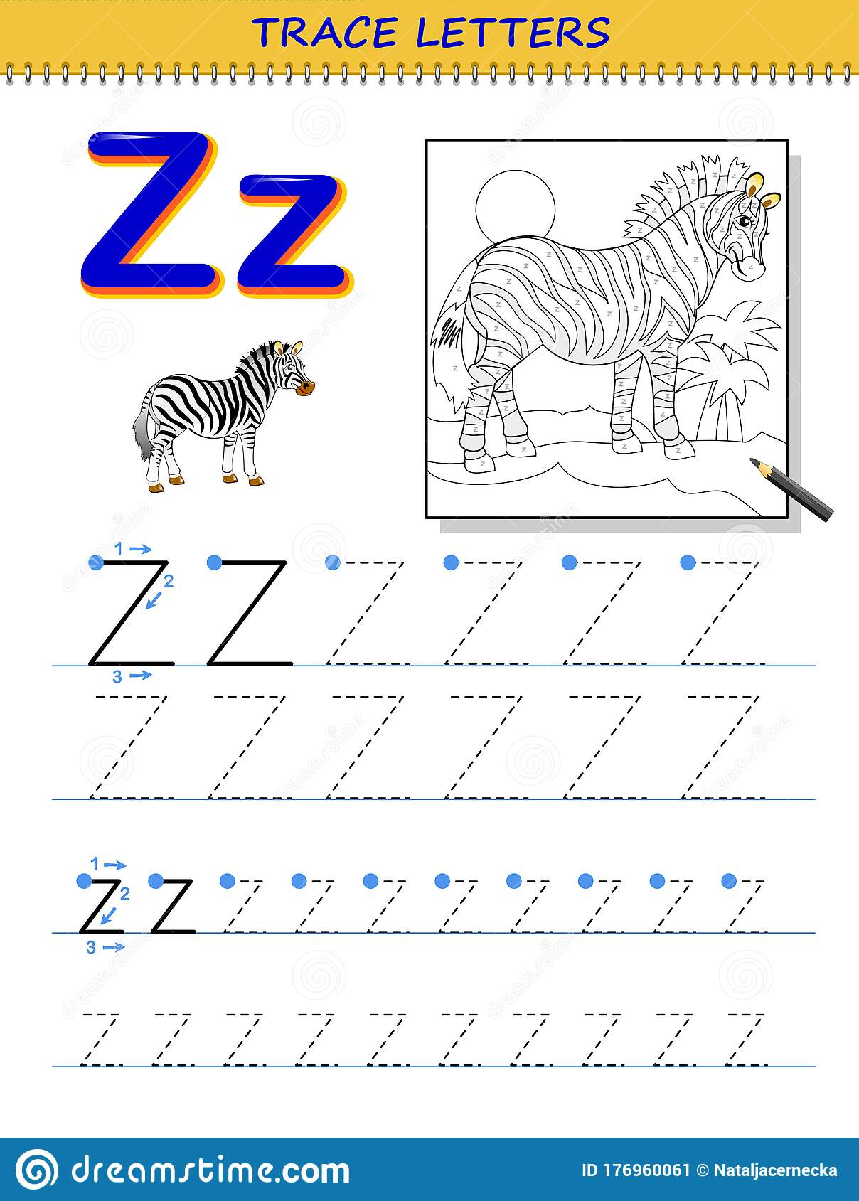 Tracing Letter Z For Study Alphabet Printable Worksheet
