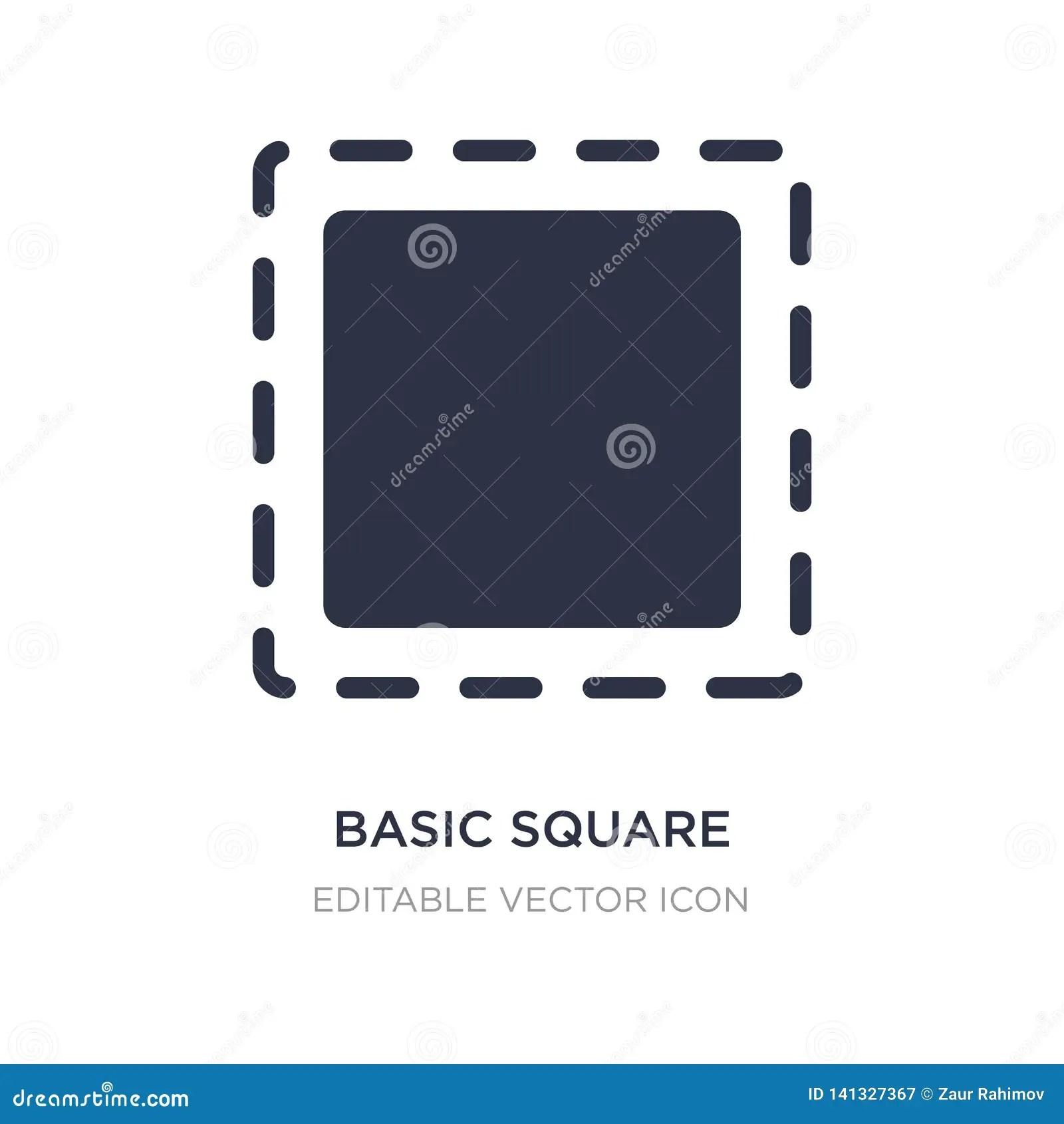 Cartoon Basic Geometric Shapes Smiling Shapes Isolated