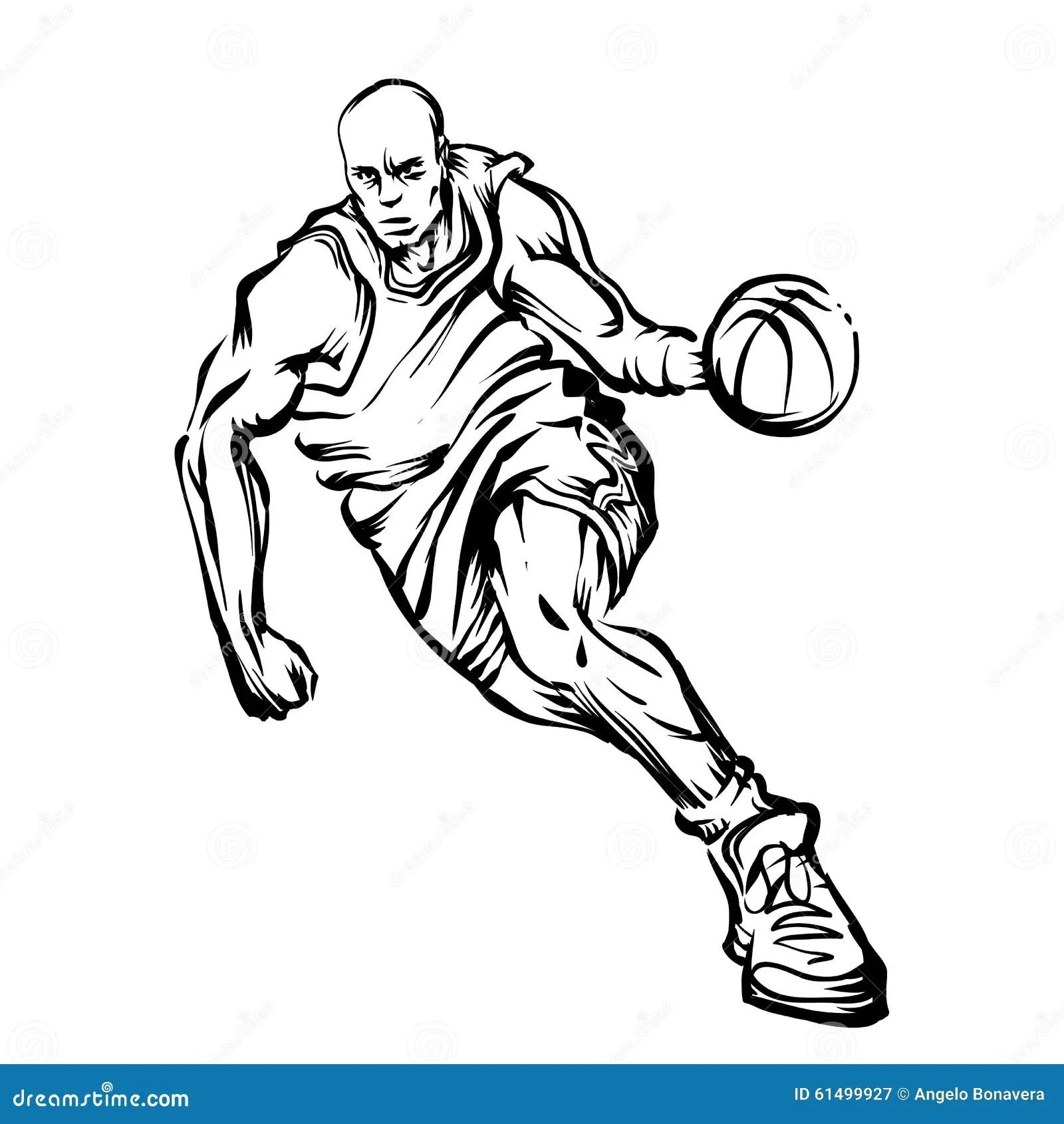 Basketball Player Stock Illustration
