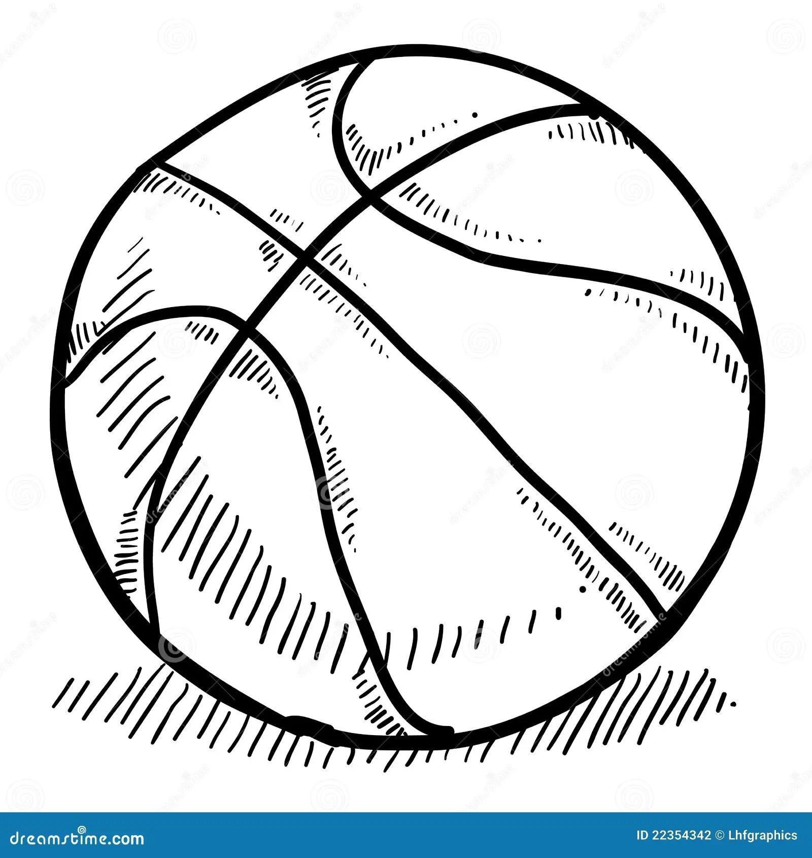 Basketball Sketch Stock Vector Illustration Of Shoot