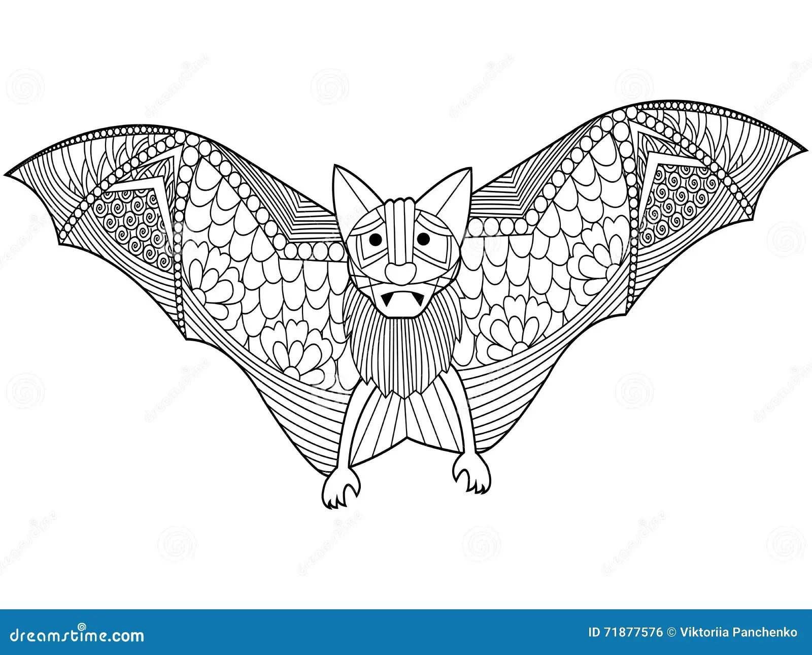 Bat In Tribal Style