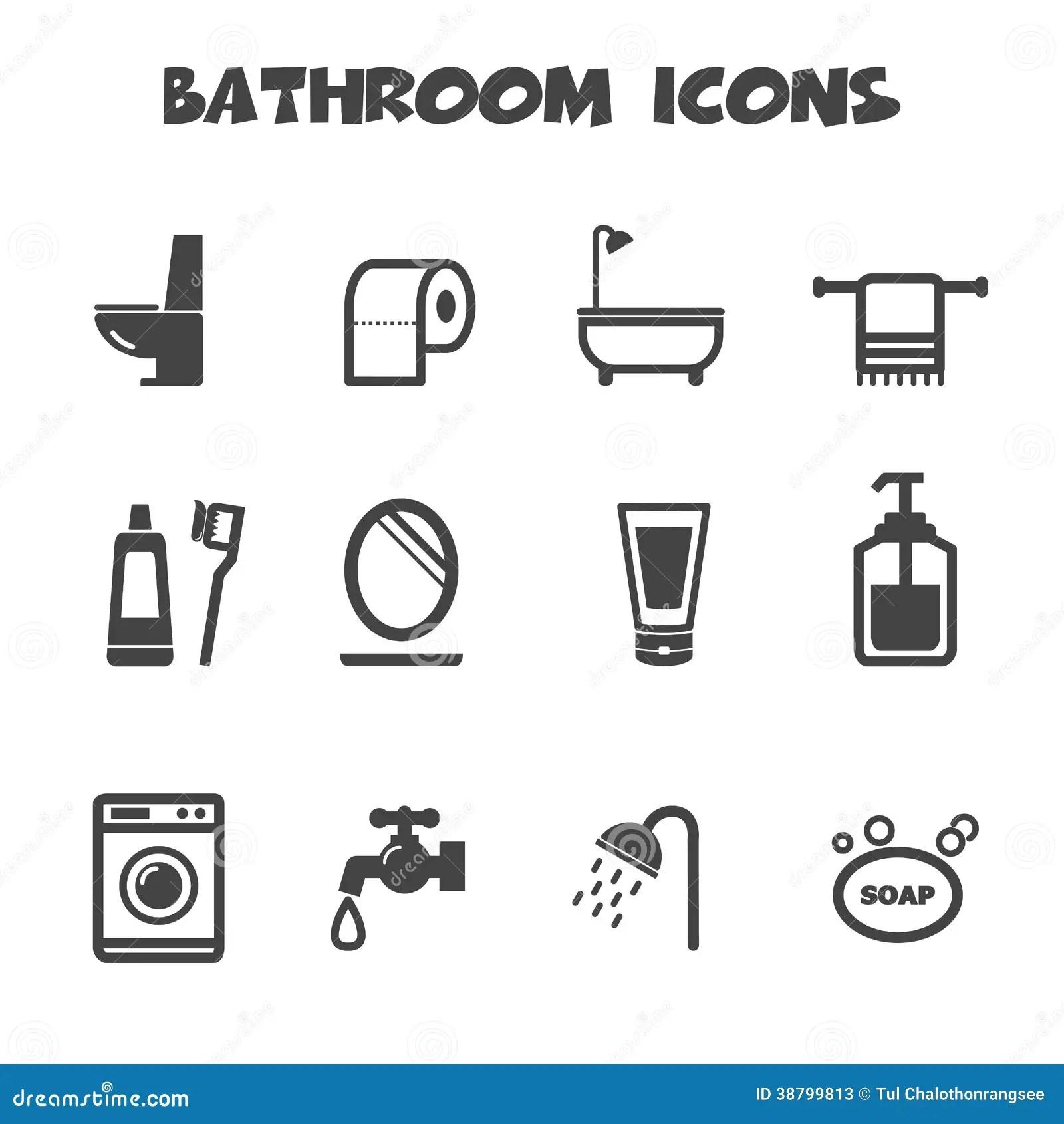 Bathroom Icons Stock Vector