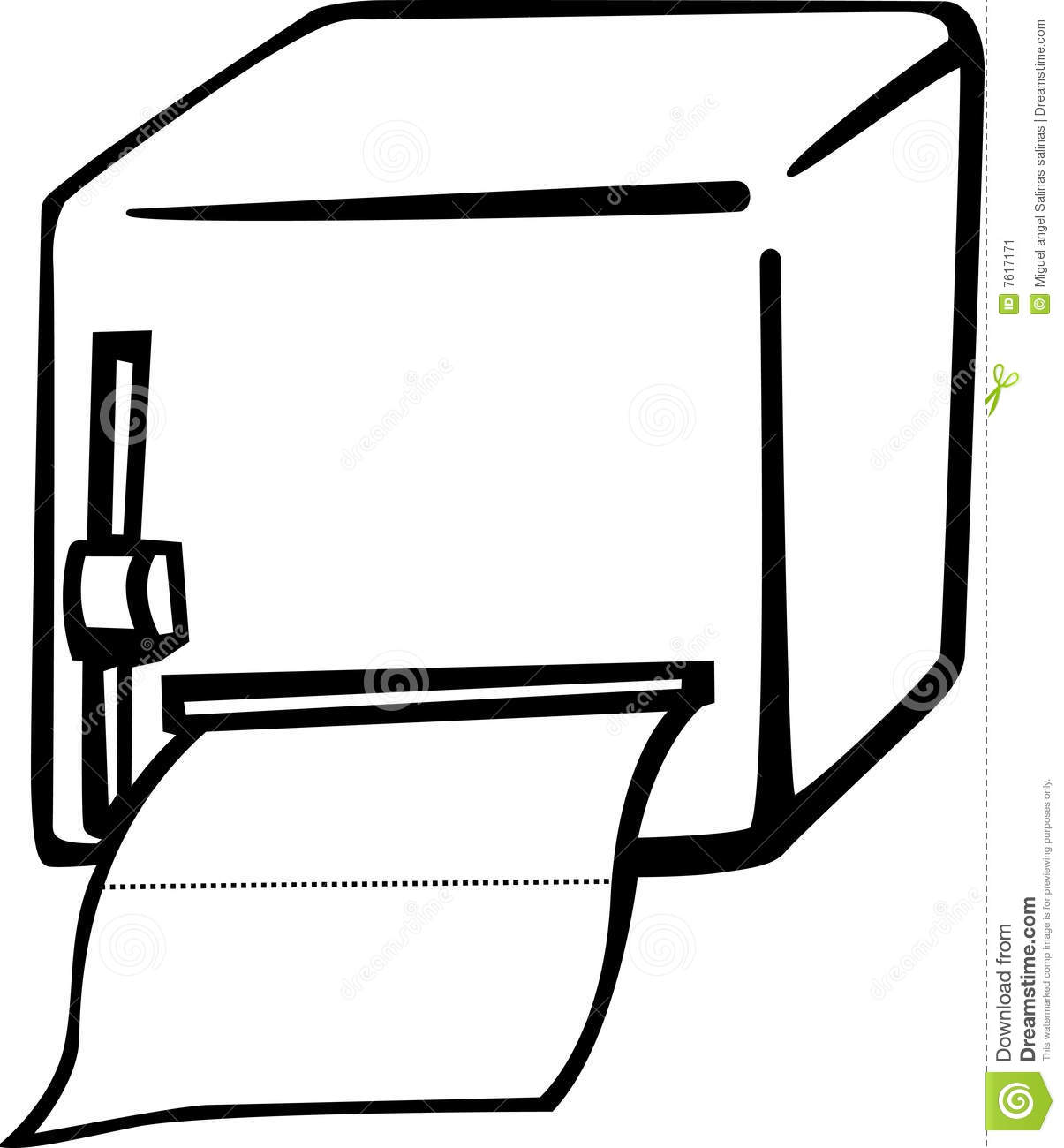 Bathroom Paper Dispenser Vector Illustration Stock Vector