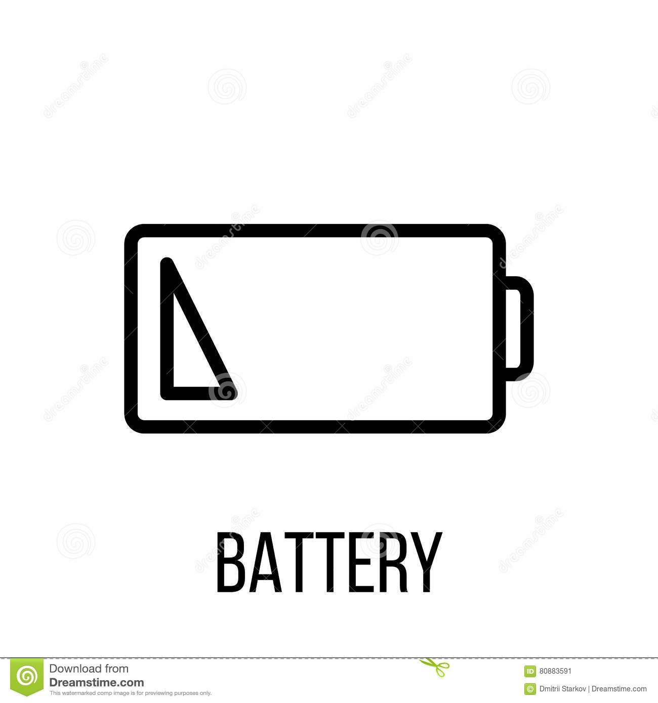 Battery Icon Or Logo In Modern Line Style High Quality