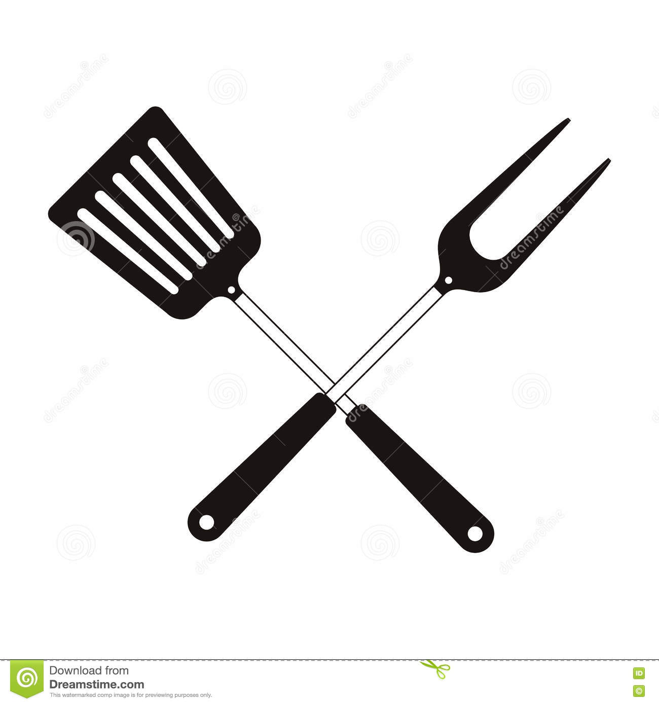 Bbq Cooking Utensils Stock Vector Illustration Of Steak