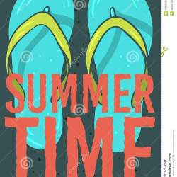 f85017db8fb790 Beach Summer Time Poster Design With Flip Flops Slippers Beach Shoes
