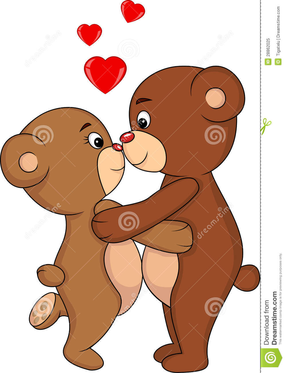 Animation Romantic Bear