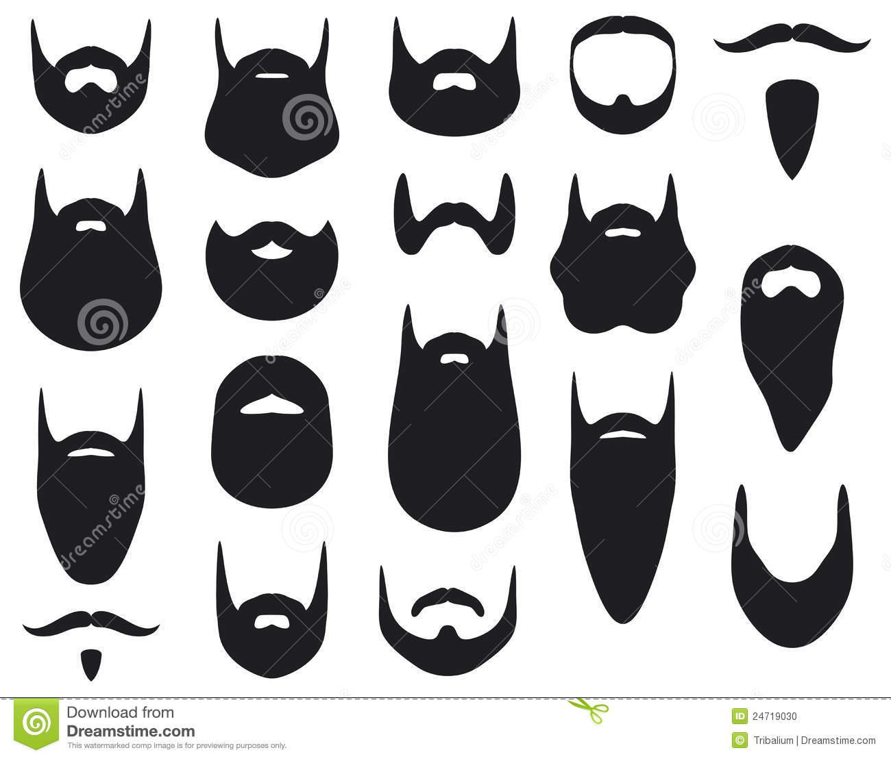 Beard Stock Vector Image Of Black Silhouette Costume