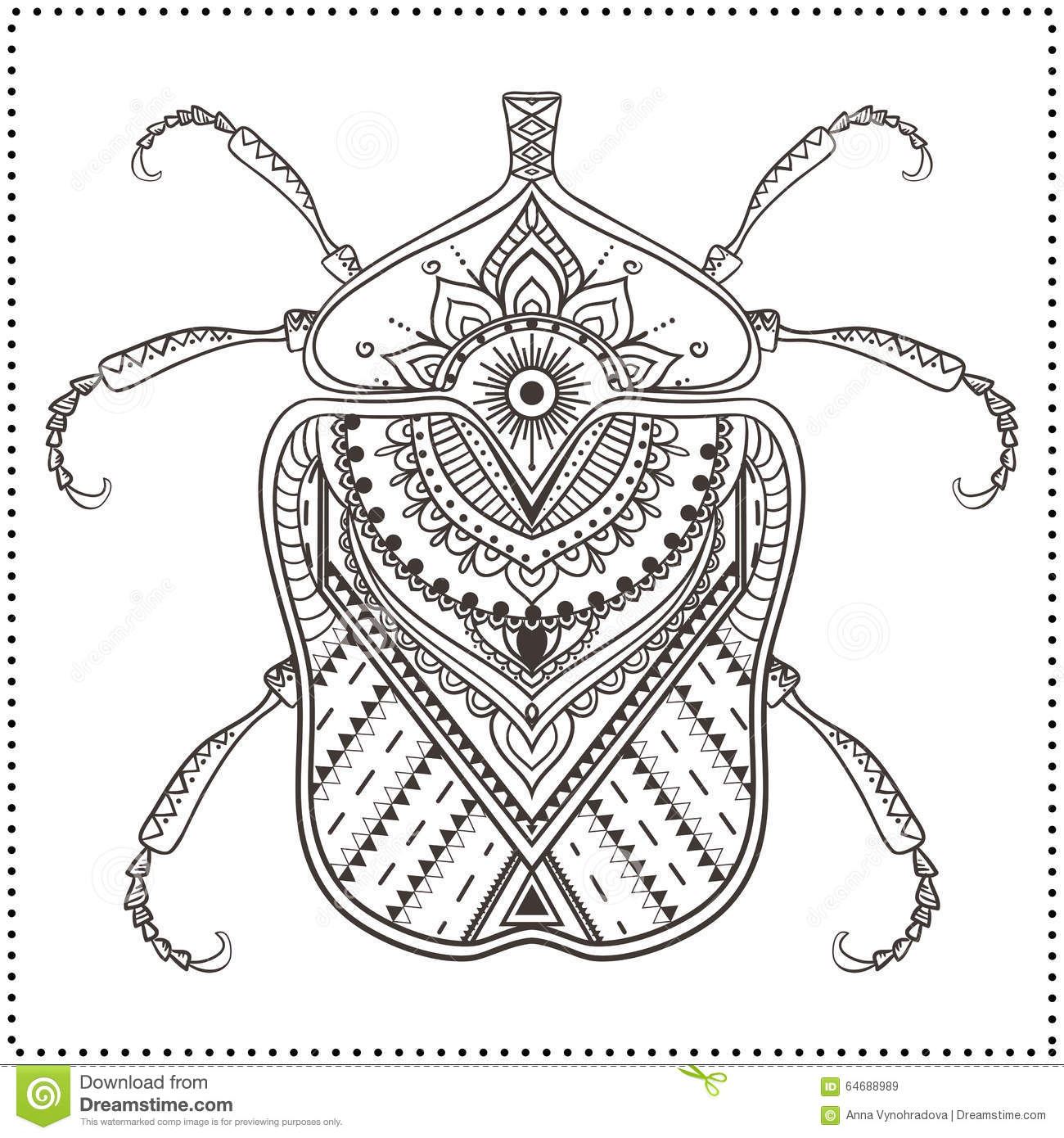 Beautiful Card Stock Vector Image Of Insects Bugs