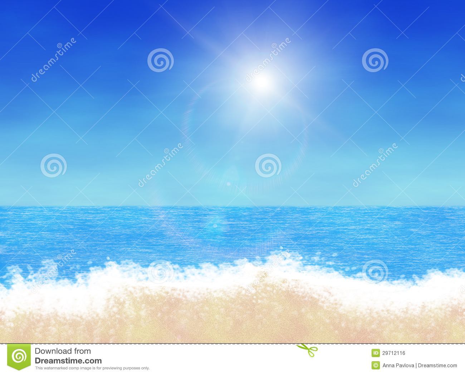 Cartoon Beach Royalty Free Stock Image Image 29712116
