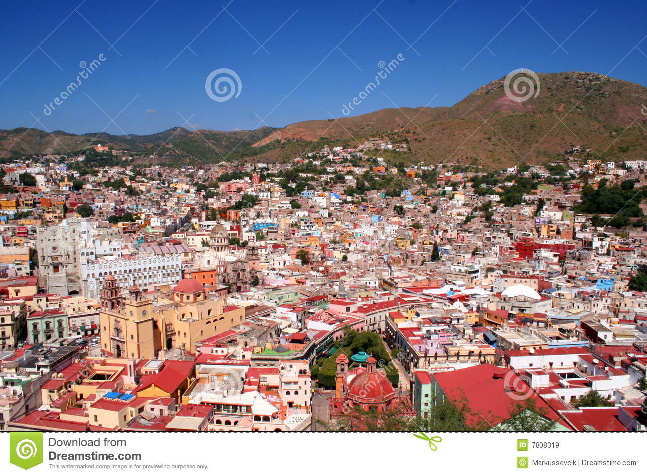 Beautiful City Of Guanajuato Mexico Royalty Free Stock