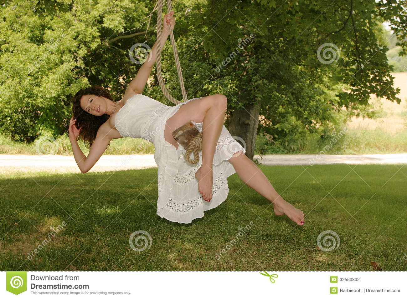 Beautiful Country Girl Stock Photo Image Of Hanging