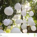 Beautiful Decor For A Party Of White Paper Chinese Lanterns Stock Video Video Of Oriental Candle 68357445