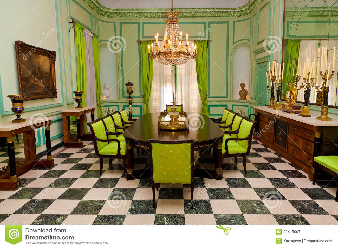 Beautiful Dining Room With Luxurious Old Furniture Stock Image Image 23415007
