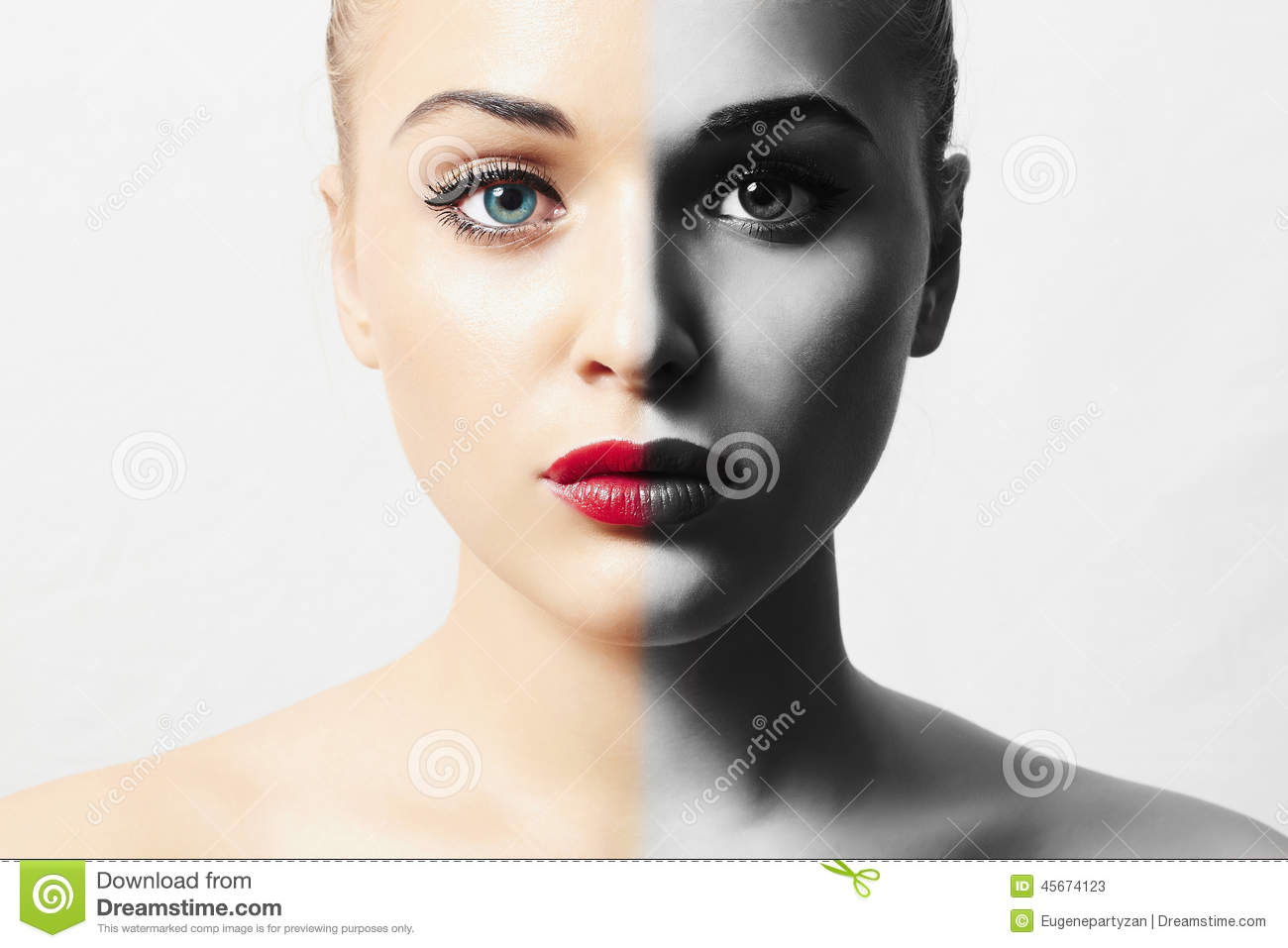 Beautiful Face Of Young Woman Blond Girl Pure Beauty Model