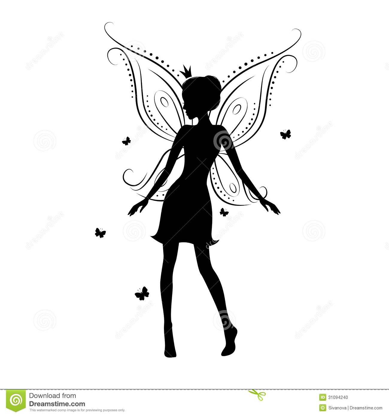 Beautiful Fairy Stock Vector Illustration Of Myth Female