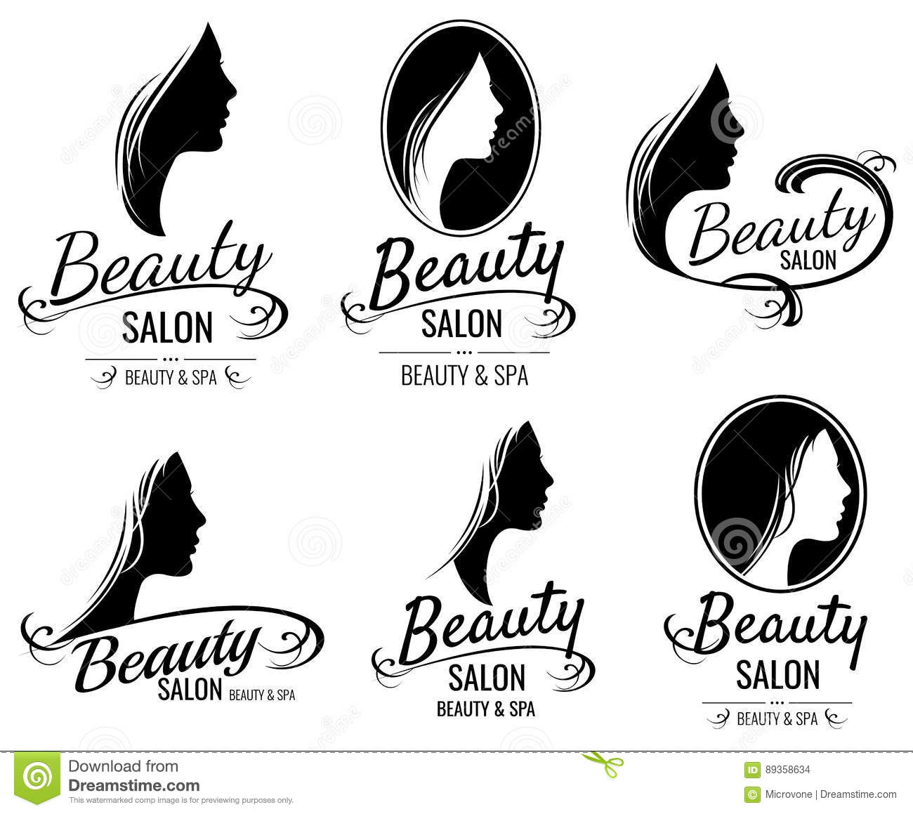 Face Of Pretty Woman Logo Vector Vector Illustration